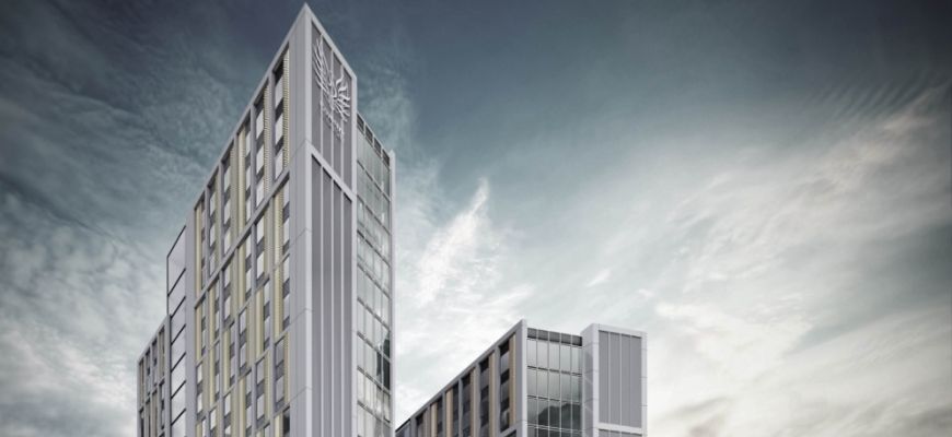 An artist's impression of the Bishop Gate development in Coventry.