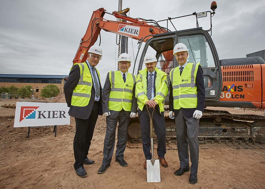 Johnathan Browning and team at construction site