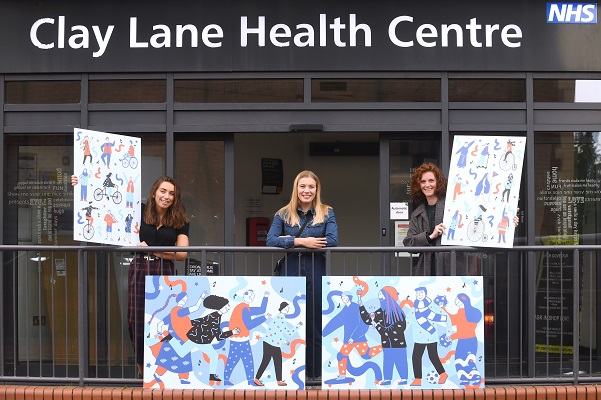 Caption: AEP Press (left to right): Nicole Malatesta (Coventry City of Culture Trust), Lauren Mclardy (artist), Vicki Ridgway (Arden Estate Partnerships)