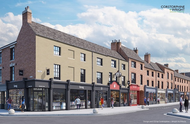 CGI concept of The Burges in Coventry