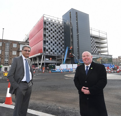 Tony Minhas from the CWLEP (left) with Cllr Jim O'Boyle from Coventry City Council