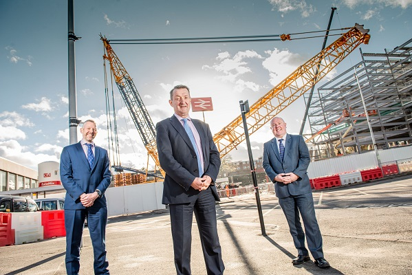 From the left, Malcolm Holmes (WMCA Rail Director), Nick Abell (CWLEP) and Cllr Jim O'Boyle (Coventry City Council)