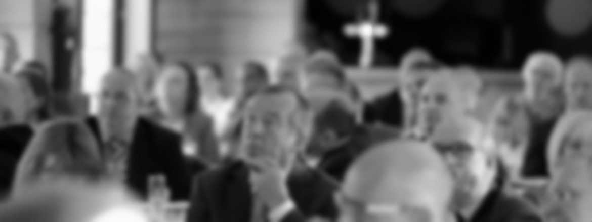 Blurred background of people at networking event