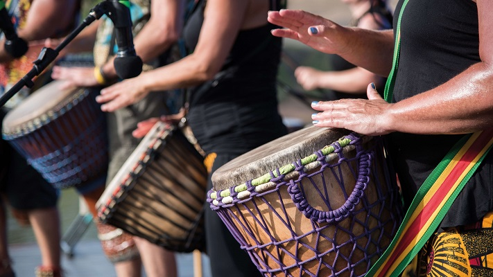 Drummers at Coventry Welcomes festival