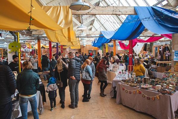 Christmas Makers Market at FarGo Village in 2019