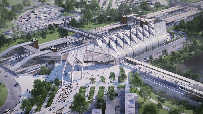CGI concept of HS2 Interchange Station