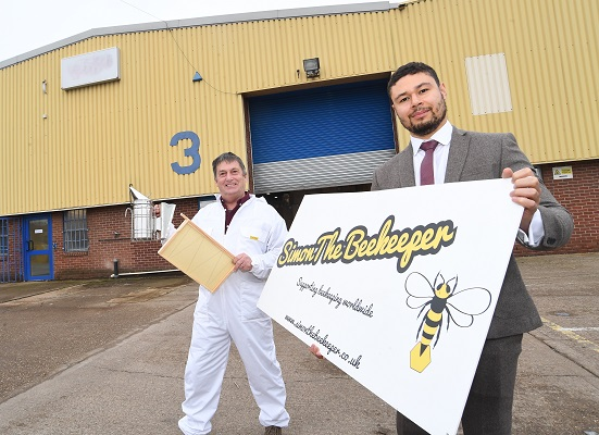 Simon Morgan, owner of Simon the Beekeeper, and Louis Smith, head of estates at The Wigley Group.