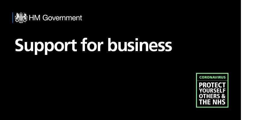 Poster for HM Government support for businesses campaign