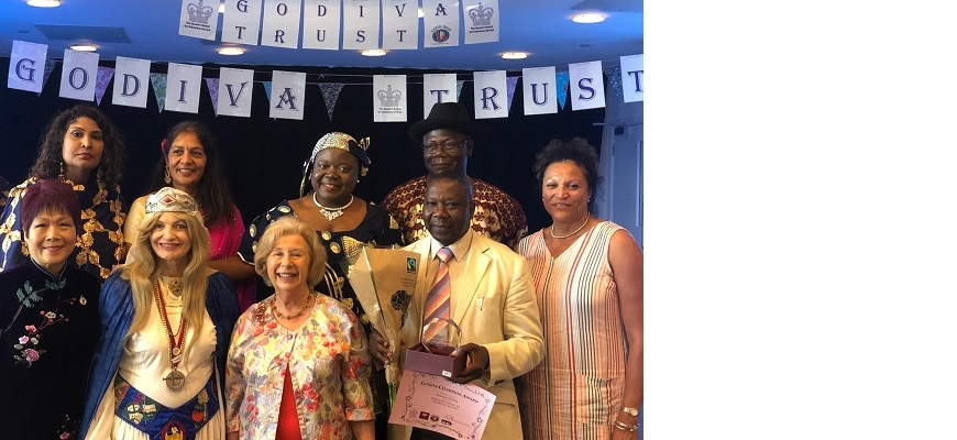 WMCA chief executive Deborah Cadman OBE (furthest right), with members of the Godiva Trust at the 'Party with the People' event at Earlsden Park Village, Coventry