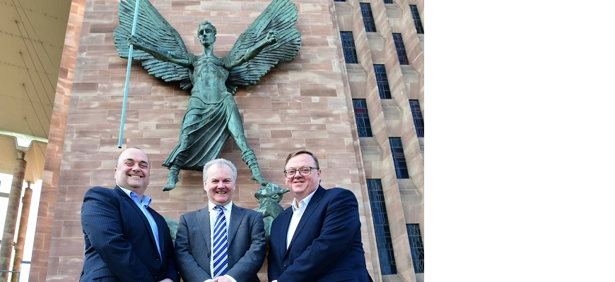 From the left, Sean Farnell (CWLEP), Andy Povey (Maven) and Sean Hutchinson (British Business Bank)