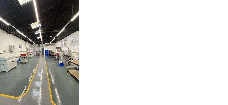 Interior the new-look test laboratory at ActOn Finishing