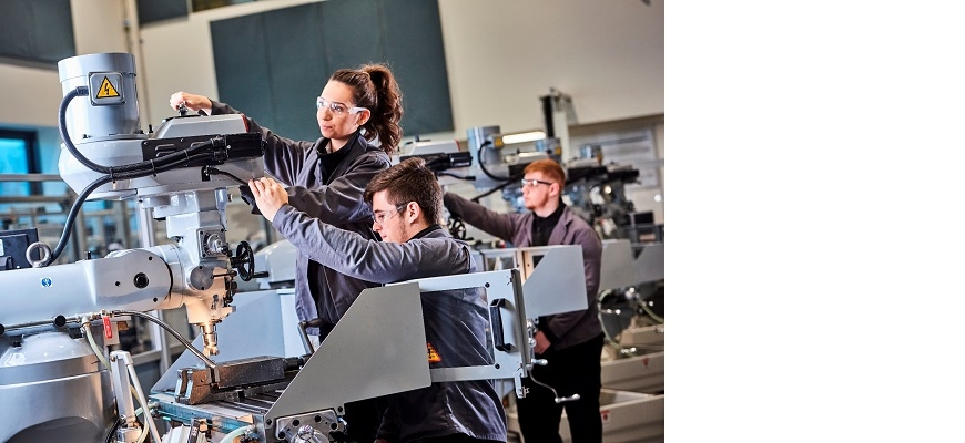 Apprentices at work at the MTC
