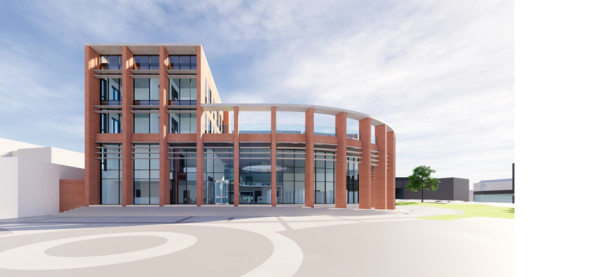 An image of the new library, café and business centre in Nuneaton