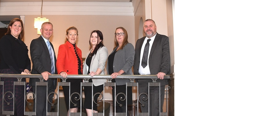 From the left, Gemma Gathercole, Matt Alvarez, Steph Parker, Emma Culey, Emma Carty and Dave Lennox from the Careers Hubs in Coventry and Warwickshire