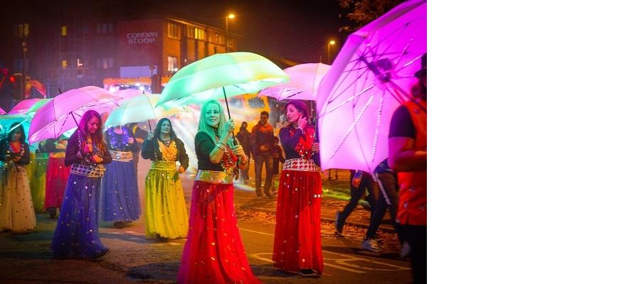 Carnival of light in Coventry