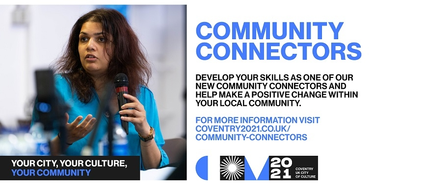 Poster promoting the Community Connectors programme