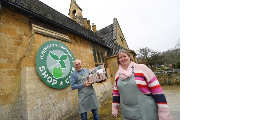 Mike Tremellen, chairman of the Ilmington Community Shop and Café, and manager Michele Hall.