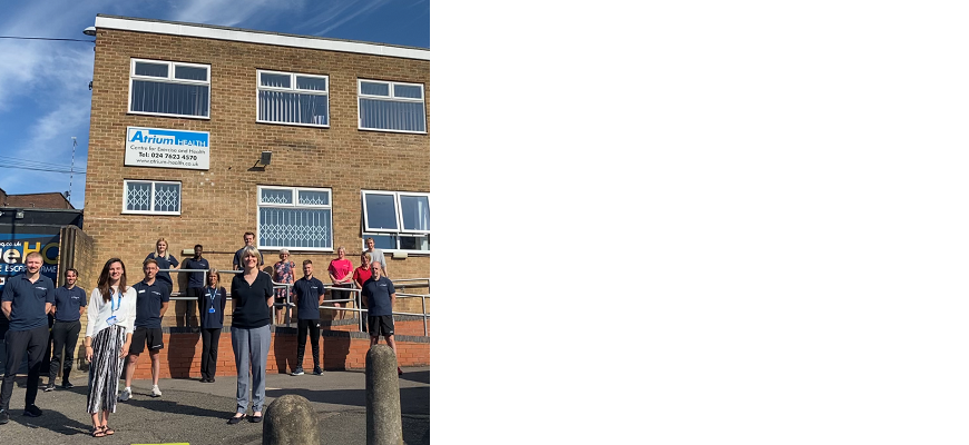 Team members outside Atrium Health in Coventry