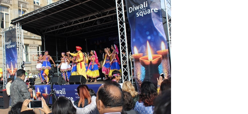 Stage view of Diwali on the square