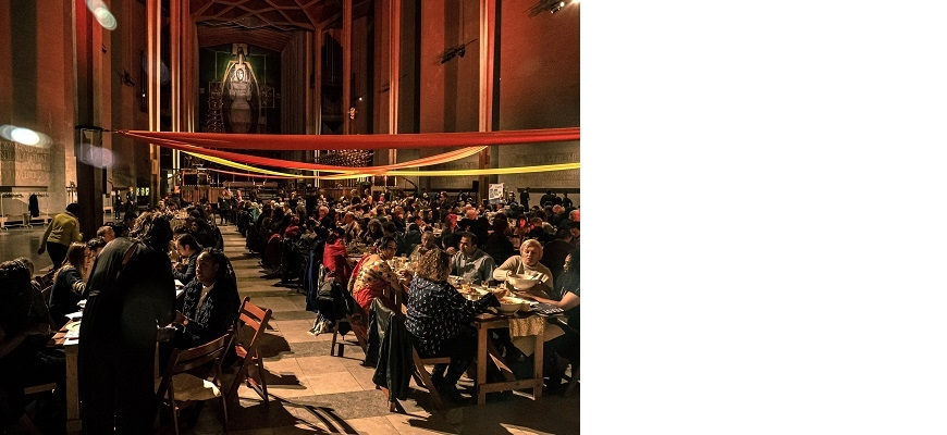 An image from FEAST at Coventry Cathedral in 2019