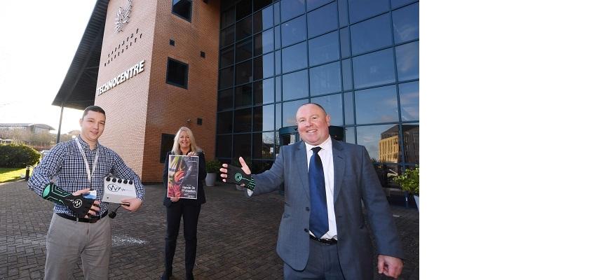 Andrei Feraru (Feraru Dynamics), Justine Chadwick (CWLEP Growth Hub) and Cllr Jim O'Boyle (Coventry City Council)