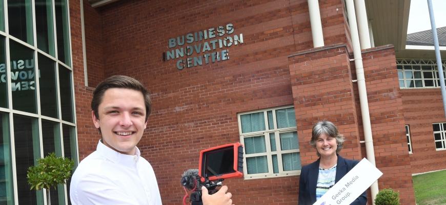 Teenage entrepreneur, James Cousins
