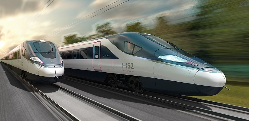 Two HS2 trains