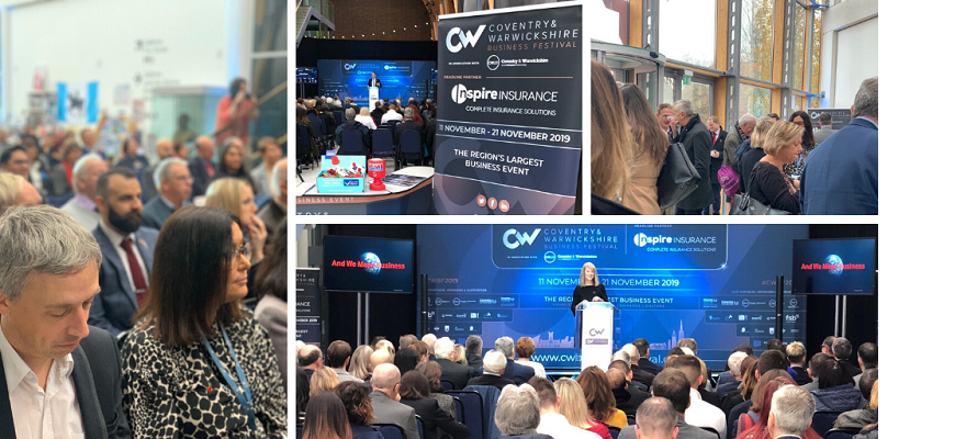 Image collage of the Coventry and Warwickshire Business Festival