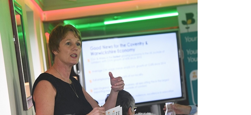 Louise Bennett, chief executive of the Coventry and Warwickshire Chamber of Commerce