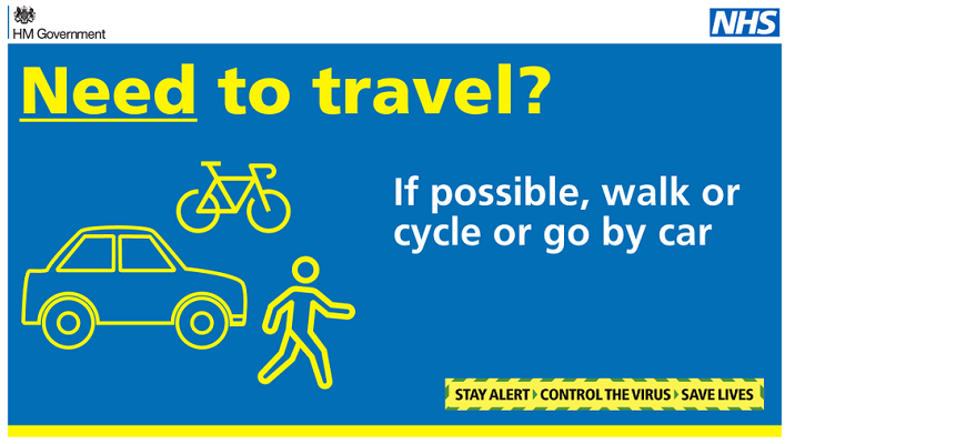 NHS Need to Travel? poster