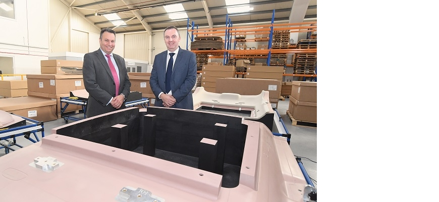 (left to right) - Craig Humphrey, managing director, CWLEP Growth Hub and Rob Coles, managing director, Opus International Products.