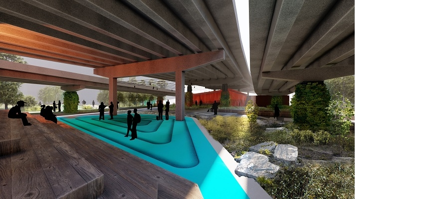 CGI concept of pedestrian and cycle route underpass in Coventry