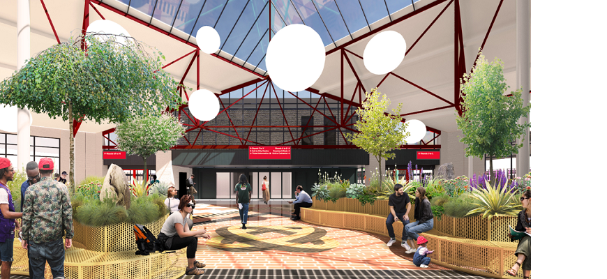 A computer generated image of how Coventry's Pool Meadow bus station will look for 2021 City of Culture