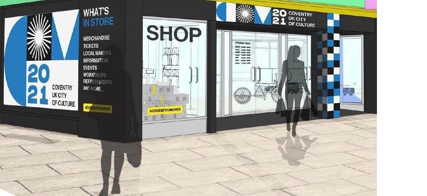 Retail impression of UK City of Culture 2021 shop