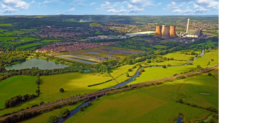 Aerial view of Rugeley power station