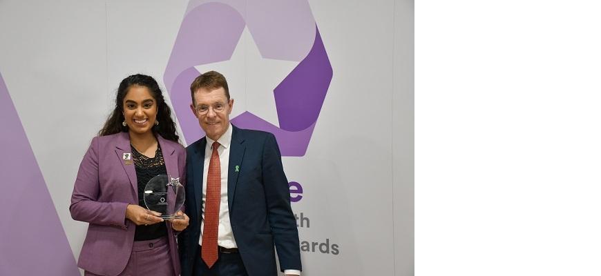 Andy Street and Sophia Badhan at the WMCA's Thrive awards