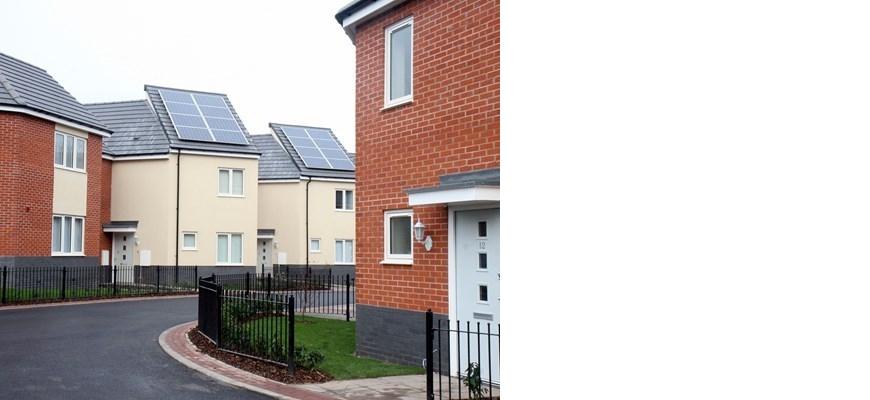 Newly-built housing estate