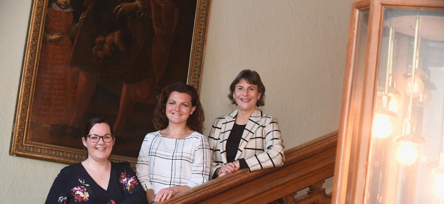 (left to right) the Shakespeare's England team of Ruth Webb, Kate Varvedo and Chief Executive Helen Peters.