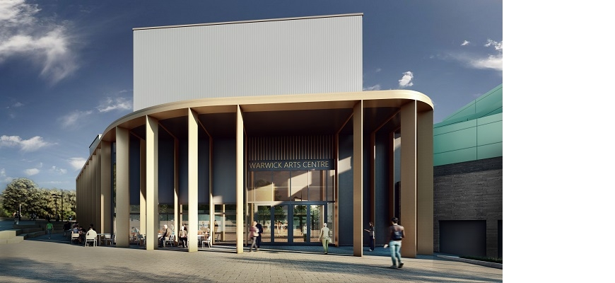Exterior of the new Warwick Arts Centre development