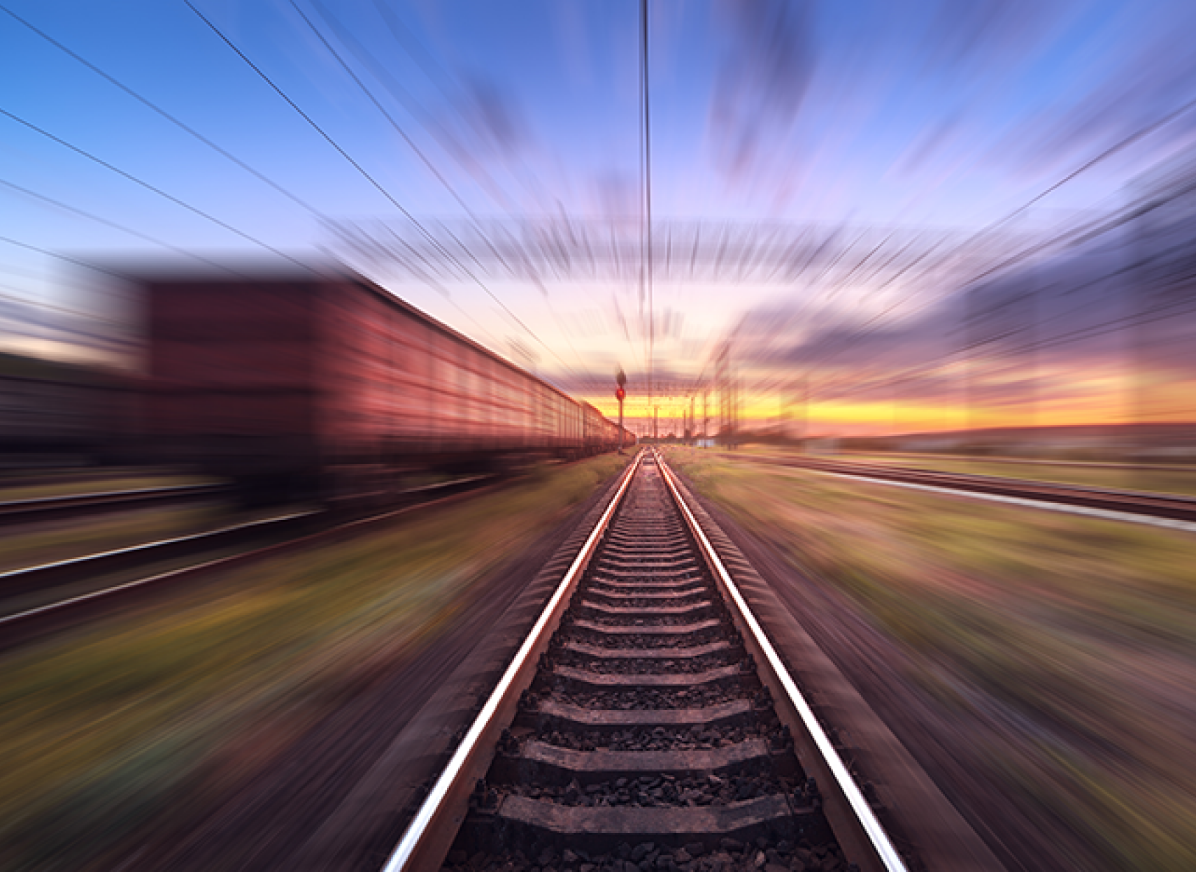 blurred image of a railway