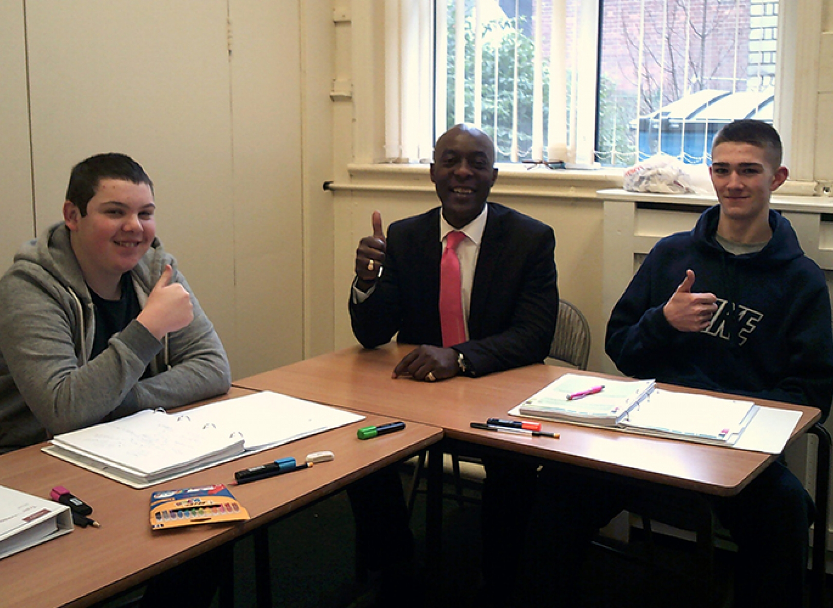 Young people getting support from Positive Futures