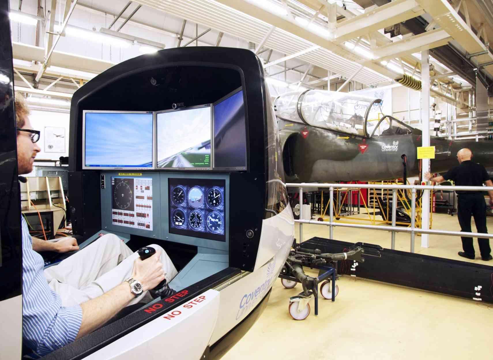 Flight simulator at Coventry University