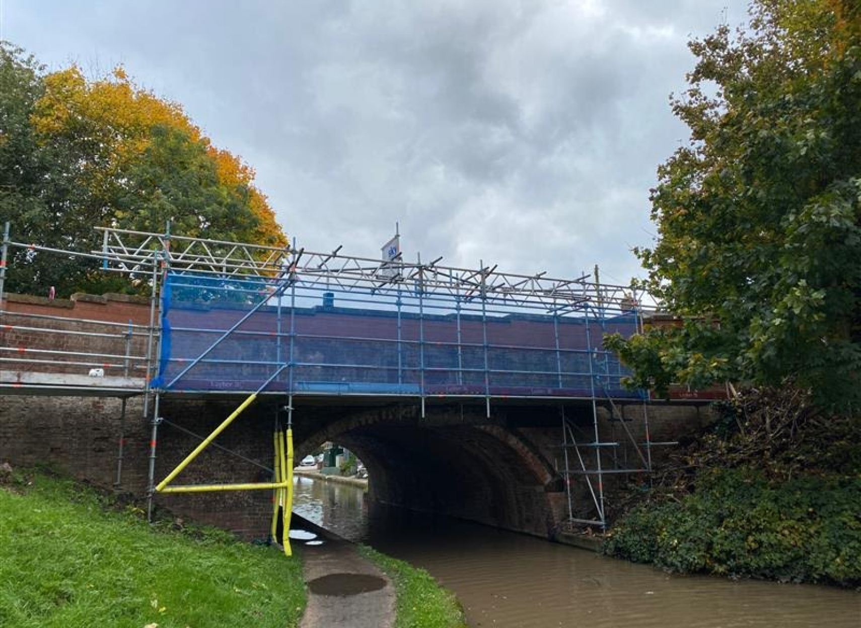 Warwick canal bridge being renovated