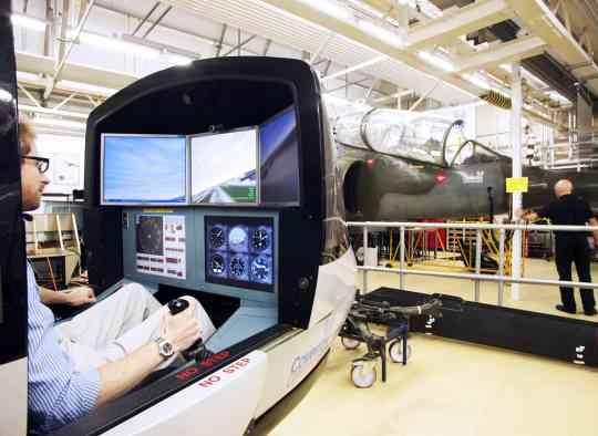 Flight simulator at Coventry University