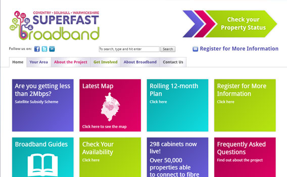 Superfast Broadband website