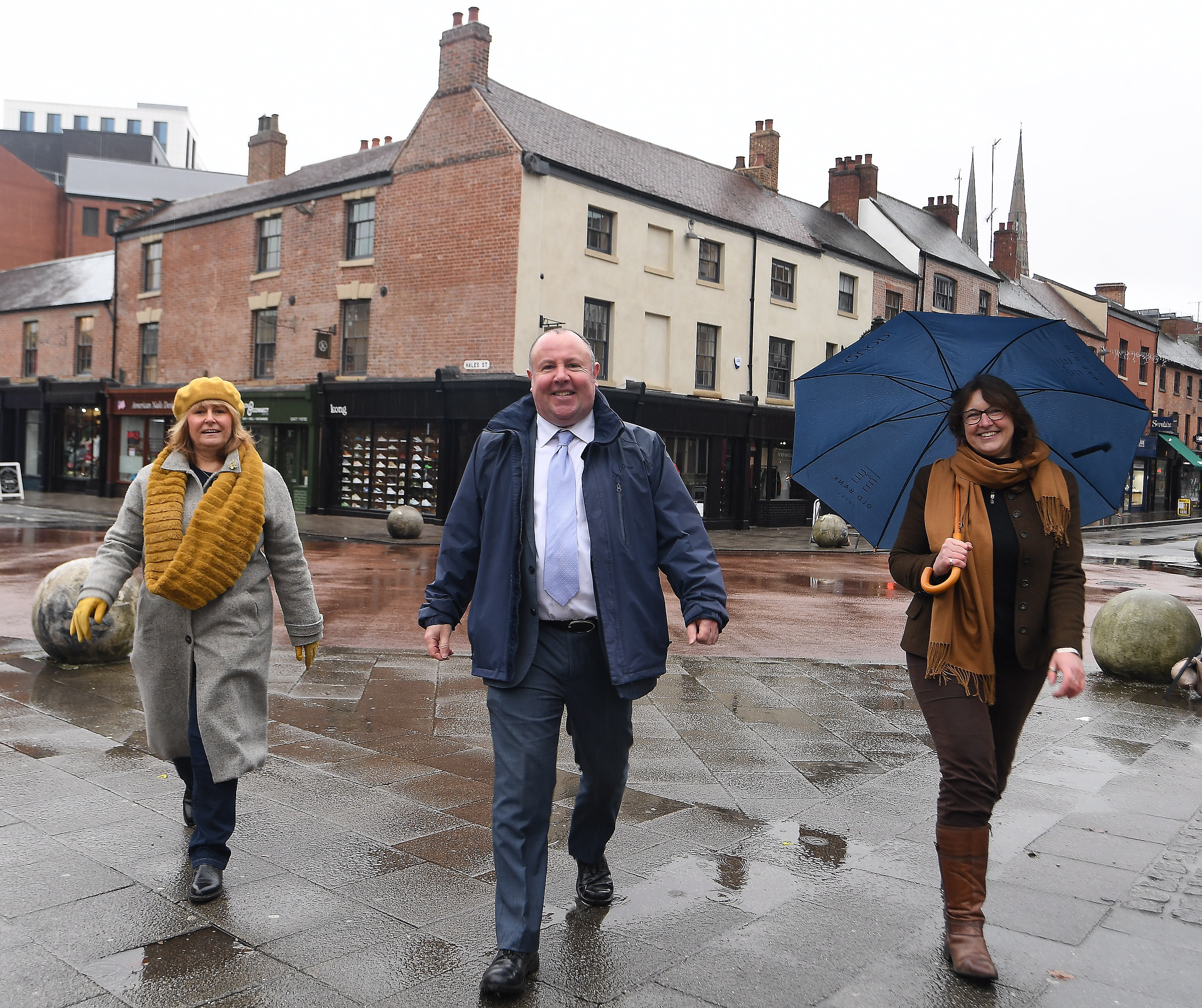 (left to right) Trish Willetts, Coventry BID Director, Councillor Jim O'Boyle and Carol Pyrah, Executive Director of HCT.