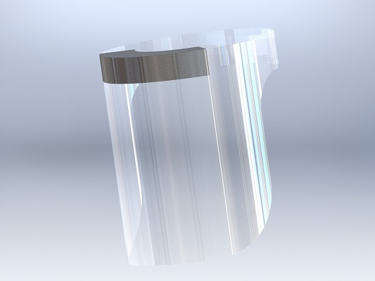 An image of a PPE visor