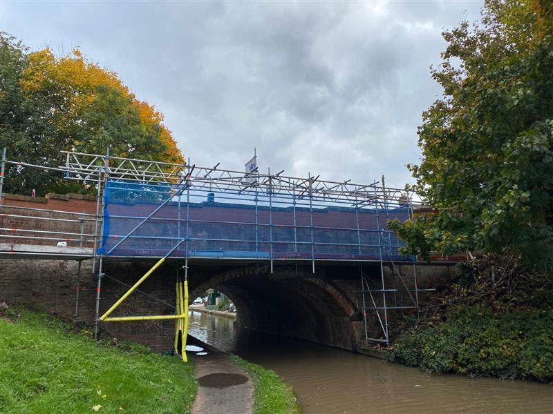 Warwick canal bridge being renovated